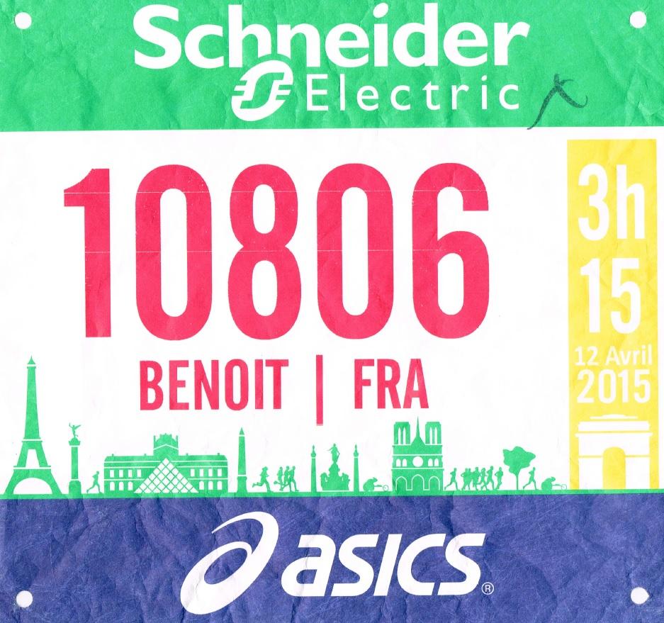 12 avril 2015 : Marathon de Paris